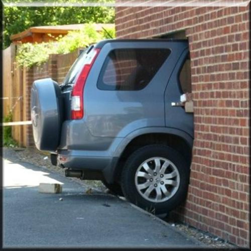 Vehicle Crash Into Building